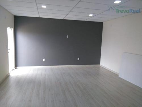 sala comercial 40m para locação, chácaras silvania, valinhos. - sa0172