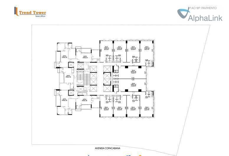 sala comercial 50 m² 1 vaga o mais novo de alphaville. - sa0247