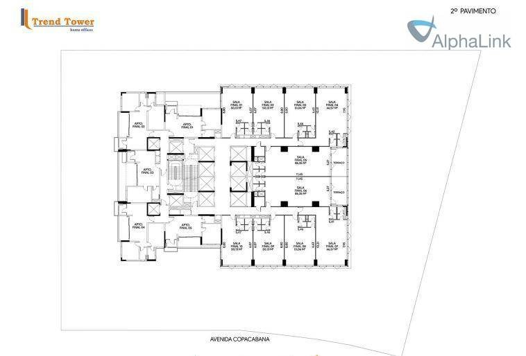 sala comercial 51 m² 1 vaga ed novo. - sa0251