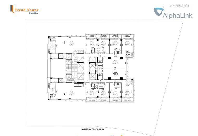 sala comercial 51 m² 1 vaga oportunidade - sa0252
