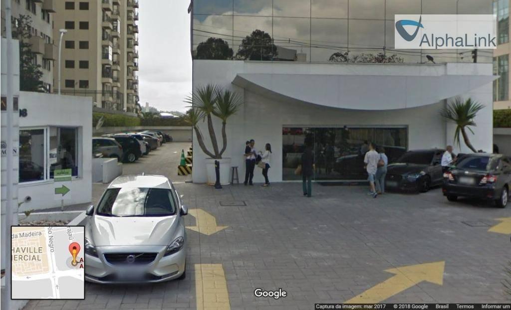 sala comercial 93 m² - 3 vagas - edifício pravda - centro alphaville - sa0150