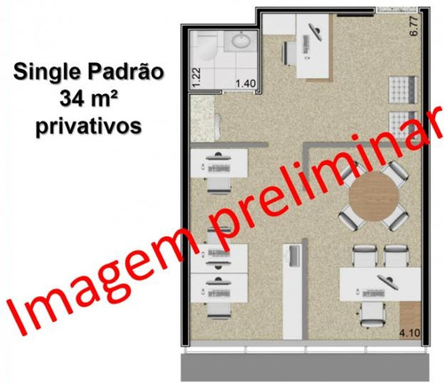 sala comercial a locação em mogi das cruzes, mogilar, 1 banheiro, 1 vaga - 407