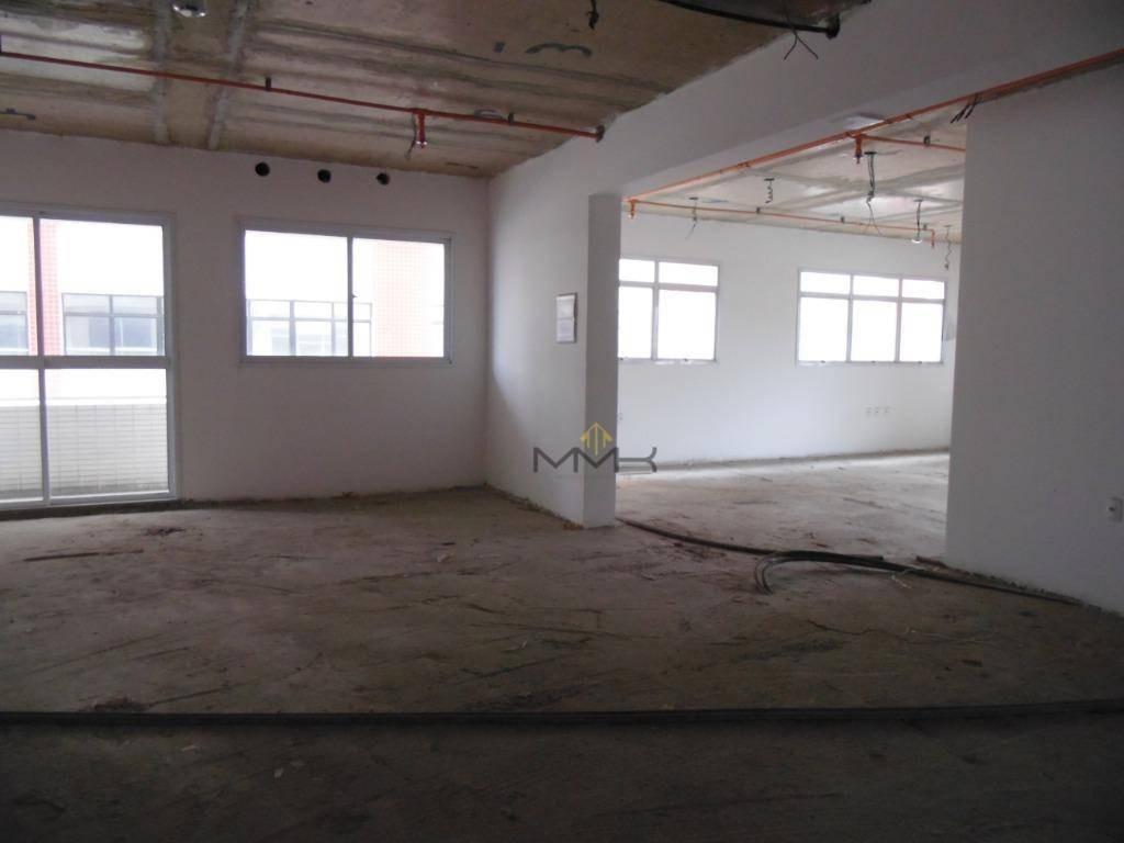 sala comercial com 159m² para locação - alto padrão - edif. fuschini miranda - santos/sp - 3 vagas garagem - sa0286