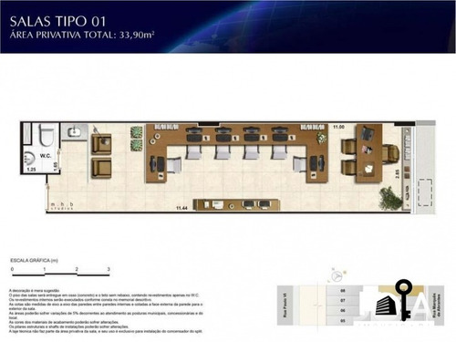 sala comercial nexus offices com 26 metros - flamengo - 94