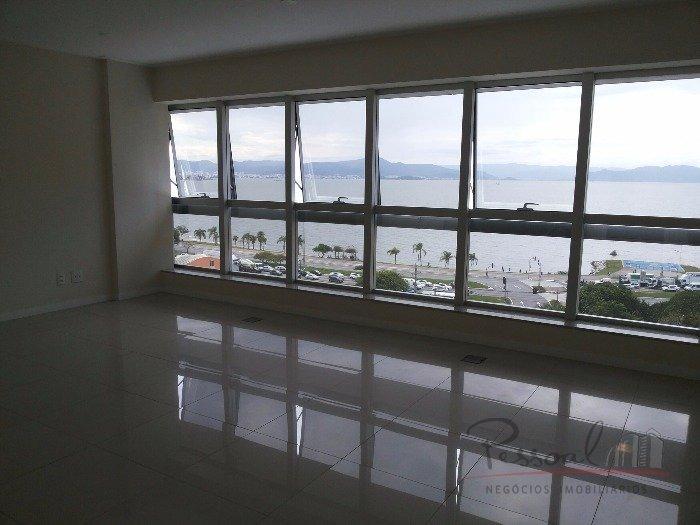 sala comercial no koerich beiramar office - vista panorâmica da av. beira mar - v-3034