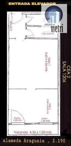 sala comercial para locação, alphaville industrial, barueri. - sa0057