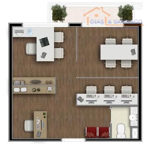 sala comercial para locação, centro, diadema - sa0027. - sa0027