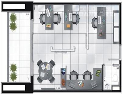 sala  comercial para locação, centro, guarulhos. - codigo: sa0037 - sa0037