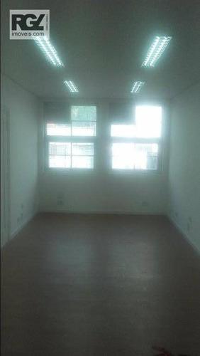 sala comercial para locação, centro, santos. - sa0178