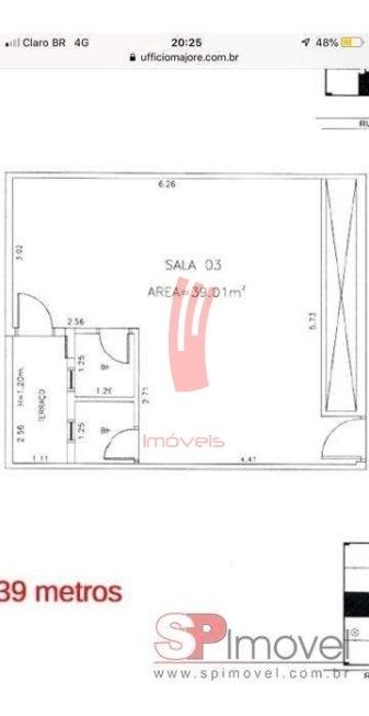 sala comercial para locação no bairro quarta parada com 39 metros. - próximo ao metrô. - 4621