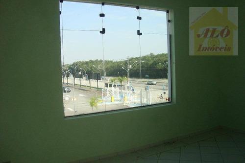 sala comercial para locação, tude bastos (sítio do campo), praia grande. - sa0013