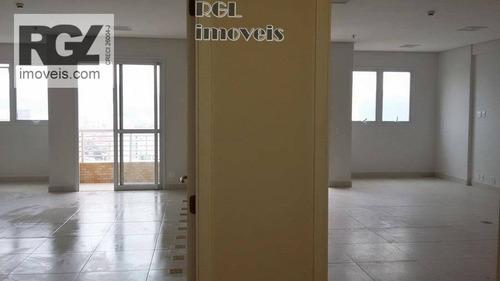 sala comercial para locação, vila matias, santos. - sa0080