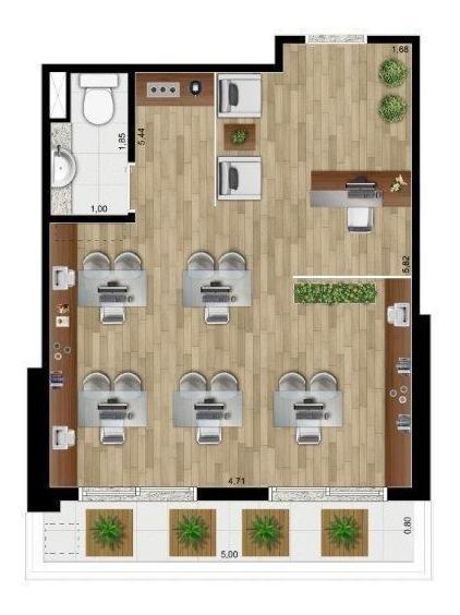 sala comercial para venda, alto da boa vista, são paulo - sa2325. - sa2325-inc