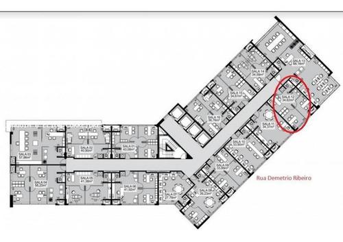 sala comercial para venda em florianópolis, centro, 1 banheiro - sl 22