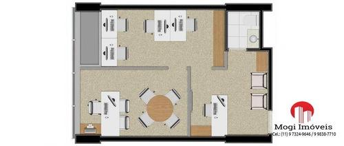 sala comercial para venda em mogi das cruzes, vila mogilar, 1 banheiro, 1 vaga - sl02
