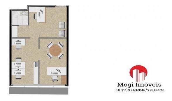 sala comercial para venda em mogi das cruzes, vila mogilar, 1 banheiro, 1 vaga - sl03_2-826872