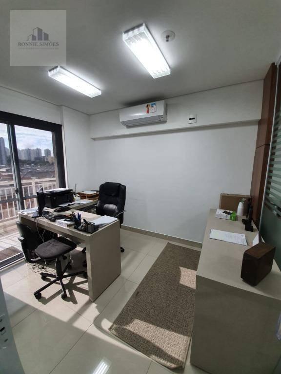 sala comercial para venda na mooca, 2 divisórias, 1 banheiro, 1 copa, 2 vagas de garagem, 44 m², são paulo. - sa0402