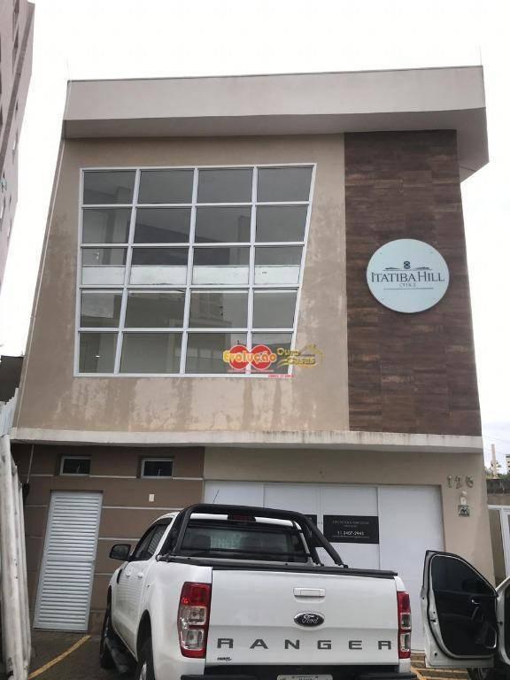 sala comercial situado no loteamento morrão da força. edifício comercial - itatiba hill office. - sa0193