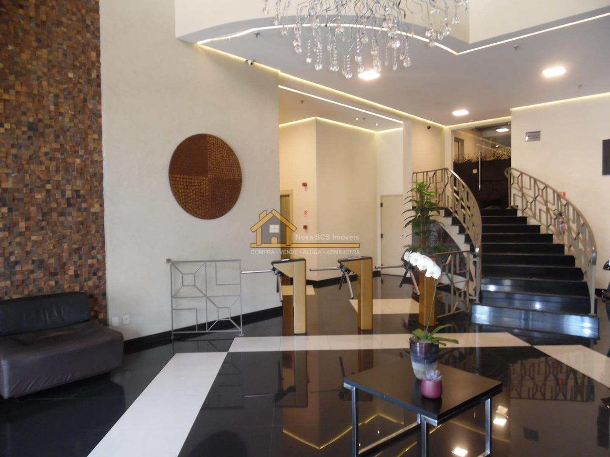 sala coml, mobiliada, santa paula, scs - r$ 450 mil, cod: 285 - v285