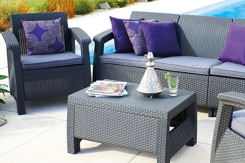 sala d lujo tipo rattán lounge terraza jardín envío incluido