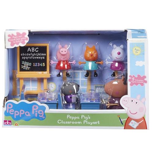 sala de aula peppa pig acompanha 5 bonecos articulados