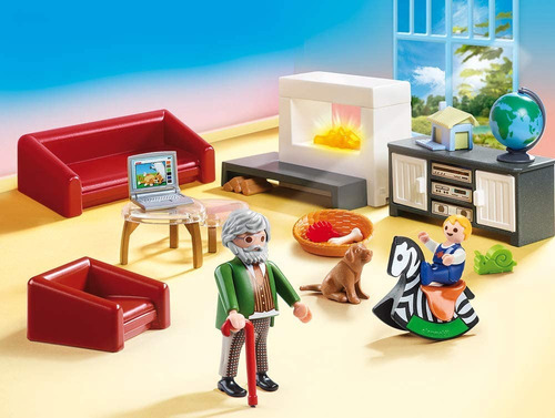 sala de estar playmobil 70207 abuelo niño y perro acc full