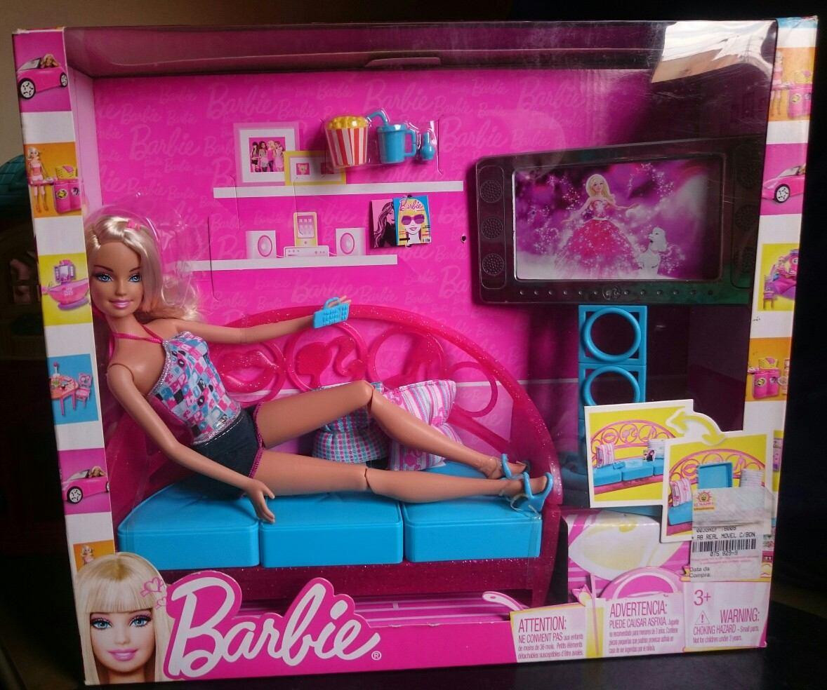 Sala de estar sof da barbie casa real c m vel r 258 for Sala de estar barbie