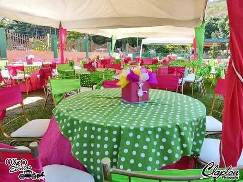 sala de eventos alquiler de mesas y sillas decoración