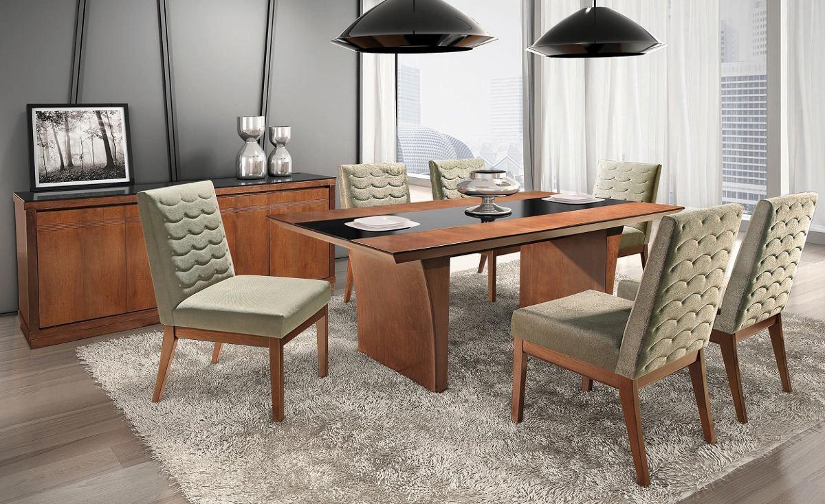 Sala De Jantar 6 Cadeirasbuffet Mesa Decoração Apt Casa R