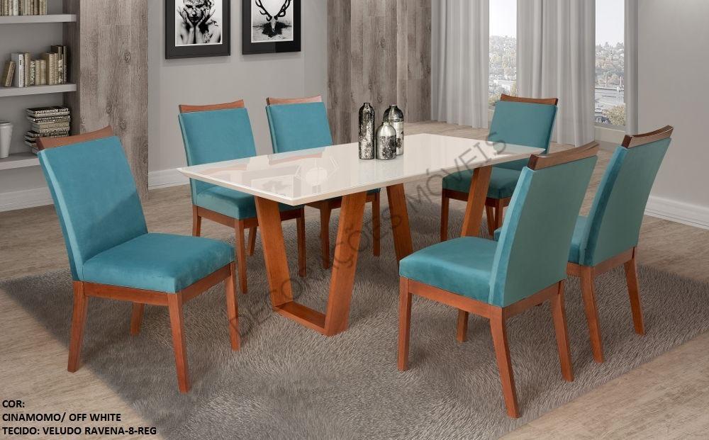 sala de jantar barcelona mesa com 6 cad. móveis valverde. Carregando zoom. d12aef7272edd