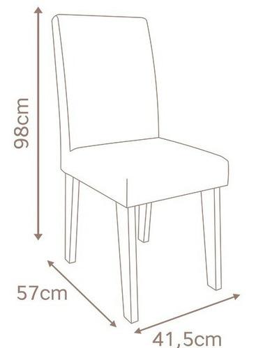 sala de jantar cimol anita 120+4 cadeiras milena marrocos/bege