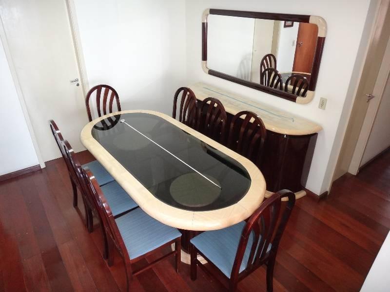 Sala De Jantar Mesa Oval 8 Cadeiras Buffet Espelho R