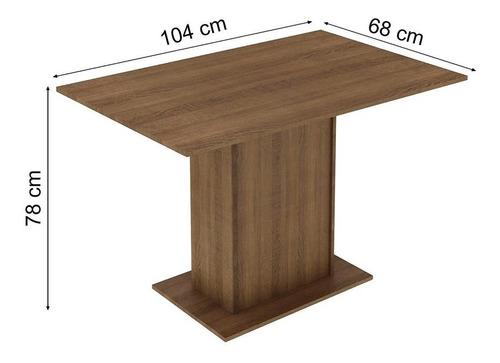 sala de jantar rita madesa mesa com 4 cadeiras - rustic