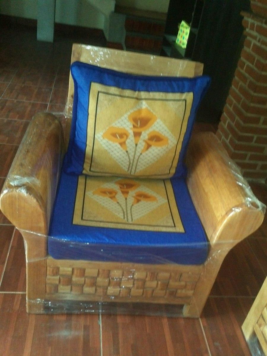 Sala de madera con cojines 8 en mercado libre - Cojines para muebles de jardin ...