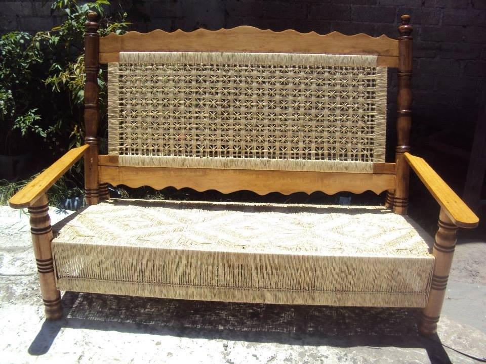 Sala de madera tejida en palma 10 en mercado libre for Muebles baratos palma de mallorca