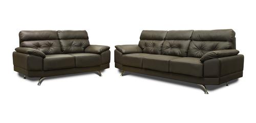 sala de piel 100% - dublin - sofa, love - conforto mx