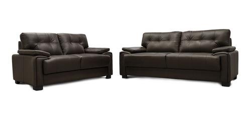 sala de piel - atenas  / sofa y love - conforto muebles