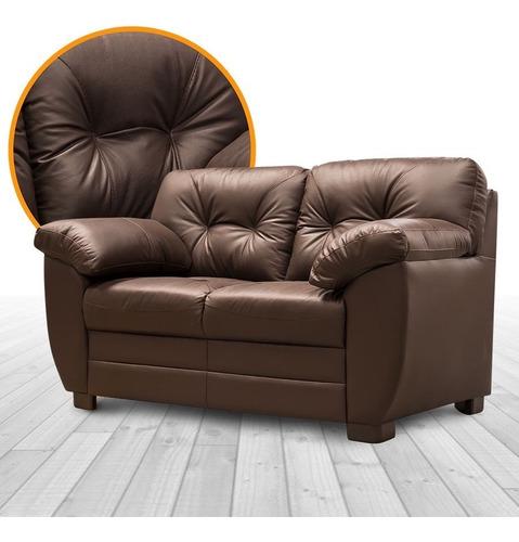 sala de piel - derby  / sofa y love - conforto muebles