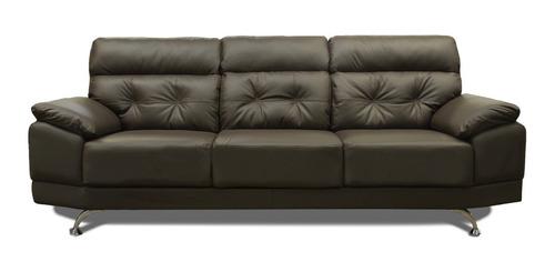 sala de piel - dublin- sofa, love y sillón - confortopiel