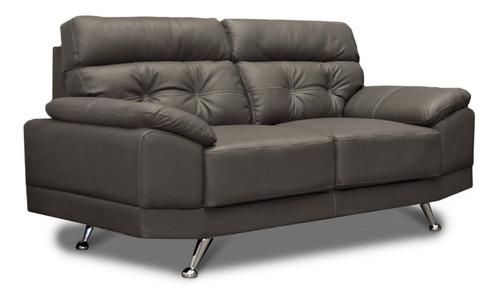 sala de piel - dublin - sofa y love seat - conforto muebles