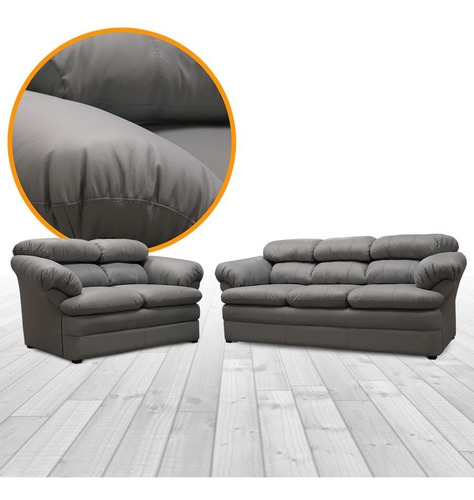 sala de piel - filadelfia / sofa y love - conforto muebles