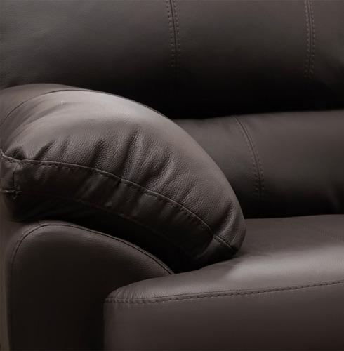sala de piel - florencia  / sofa y love - conforto muebles