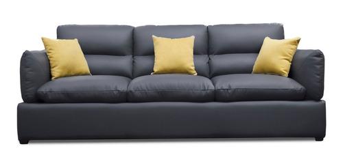 sala de piel genuina sofa y love padua - conforto muebles