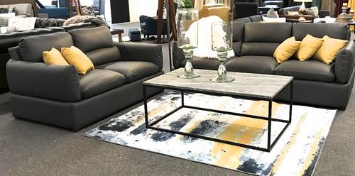 sala de piel genuina sofa y love padua - confortopiel