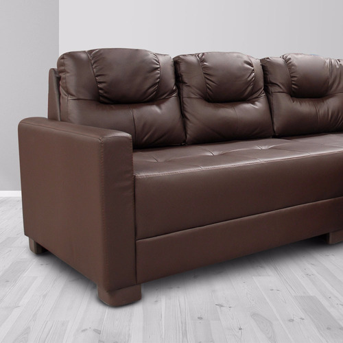 sala de piel - sofía s /modular 2 pzs - conforto esquinero l