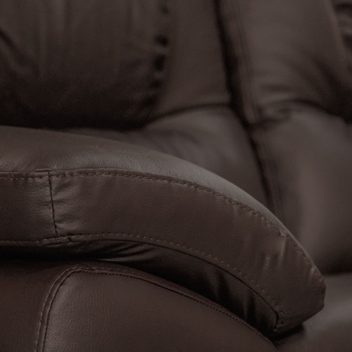 sala de piel - verona / modular 3 pzs - conforto esquinero l