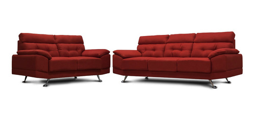 sala de tela - dublin rojo / sofa y love - conforto muebles