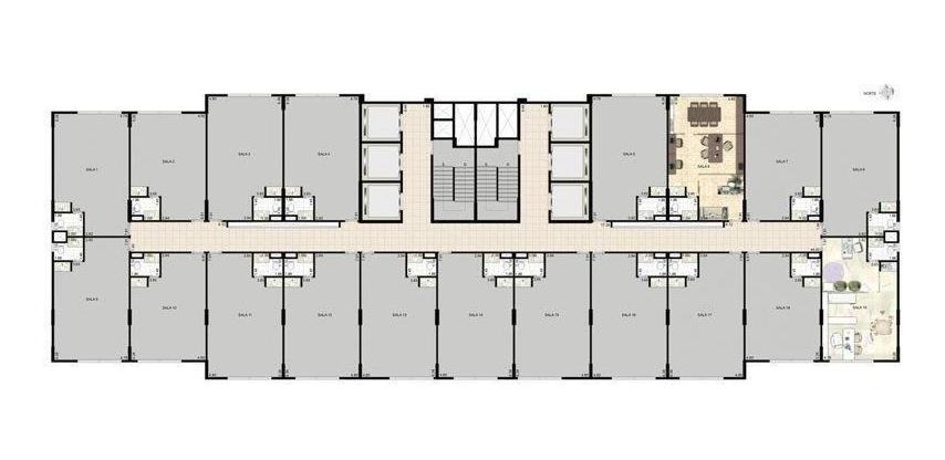 sala em centro, campinas/sp de 39m² à venda por r$ 199.900,00 - sa232770