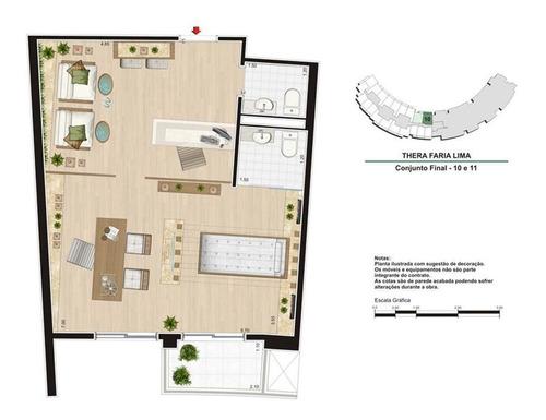 sala em pinheiros, são paulo/sp de 50m² à venda por r$ 465.000,00 - sa270227