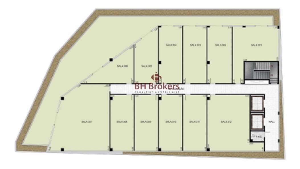 sala em prédio novo perto da raja gabaglia - 16339
